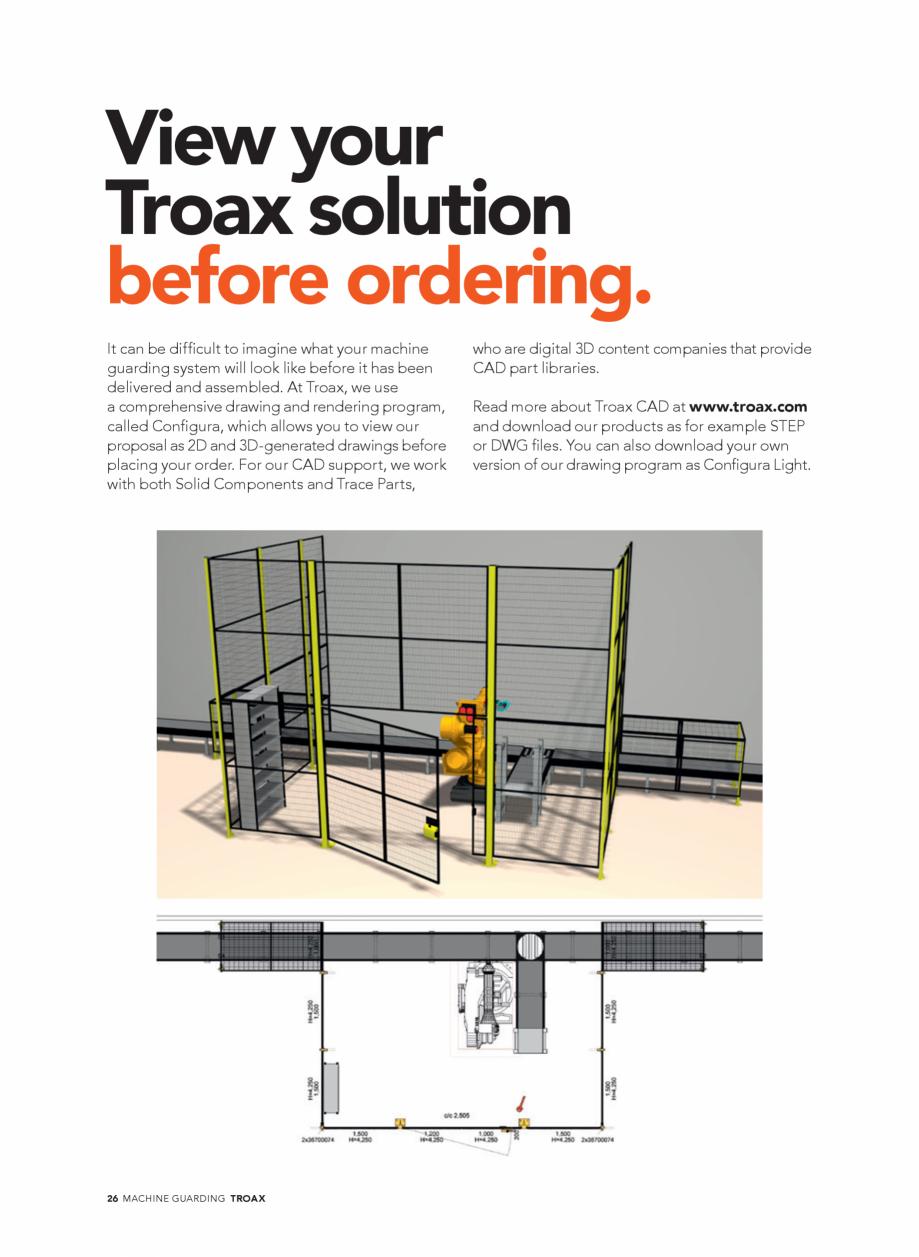 Pagina 26 - Catalog - Garduri pentru spatii de protectie a robotilor sau a utilajelor TROAX Catalog,...