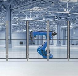 Garduri pentru spatii de protectie a robotilor sau a utilajelor TROAX