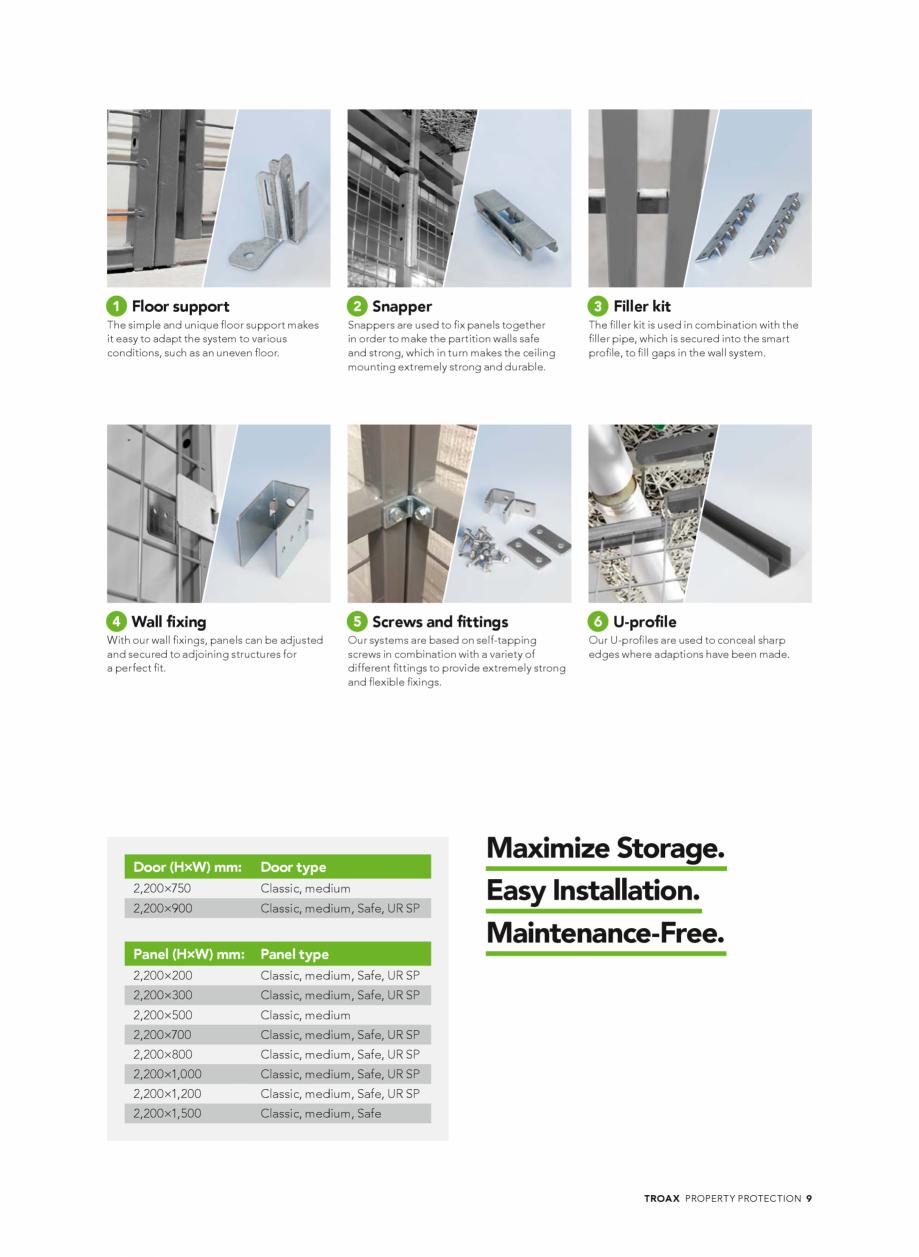 Pagina 9 - Catalog - Sisteme pentru configurarea spatiilor de depozitare  TROAX TROAX Clasic, TROAX ...