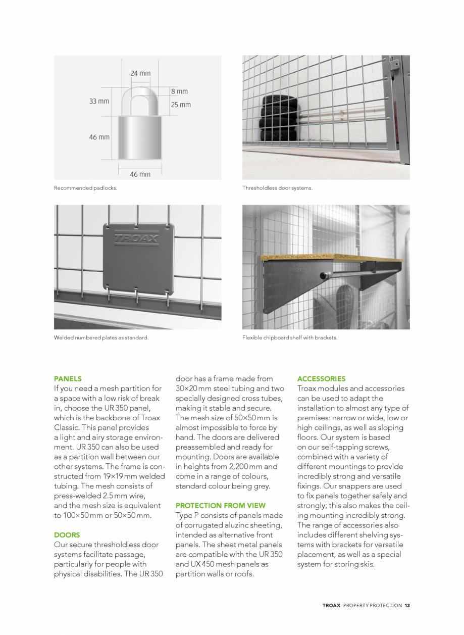 Pagina 13 - Catalog - Sisteme pentru configurarea spatiilor de depozitare  TROAX TROAX Clasic, TROAX...