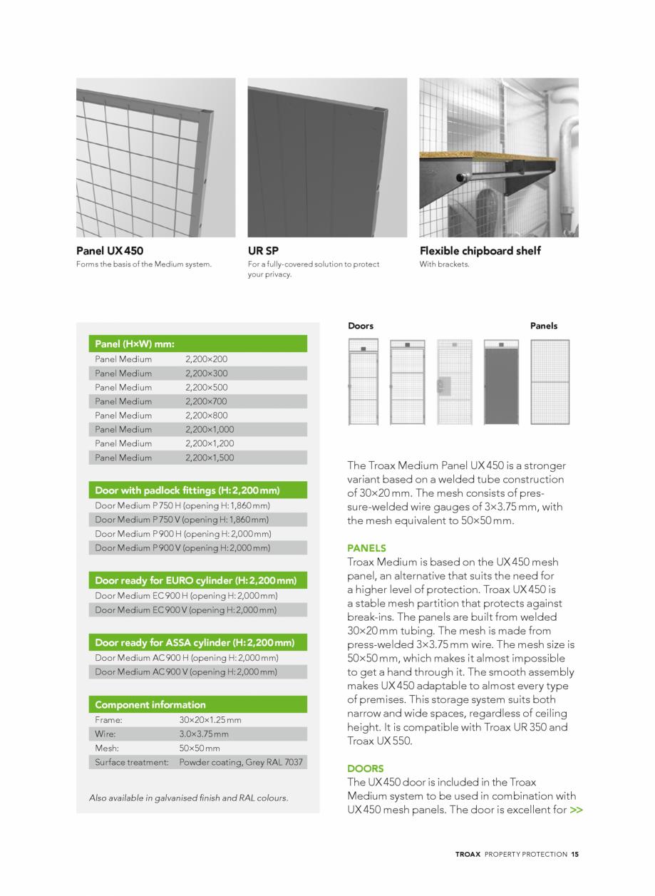 Pagina 15 - Catalog - Sisteme pentru configurarea spatiilor de depozitare  TROAX TROAX Clasic, TROAX...