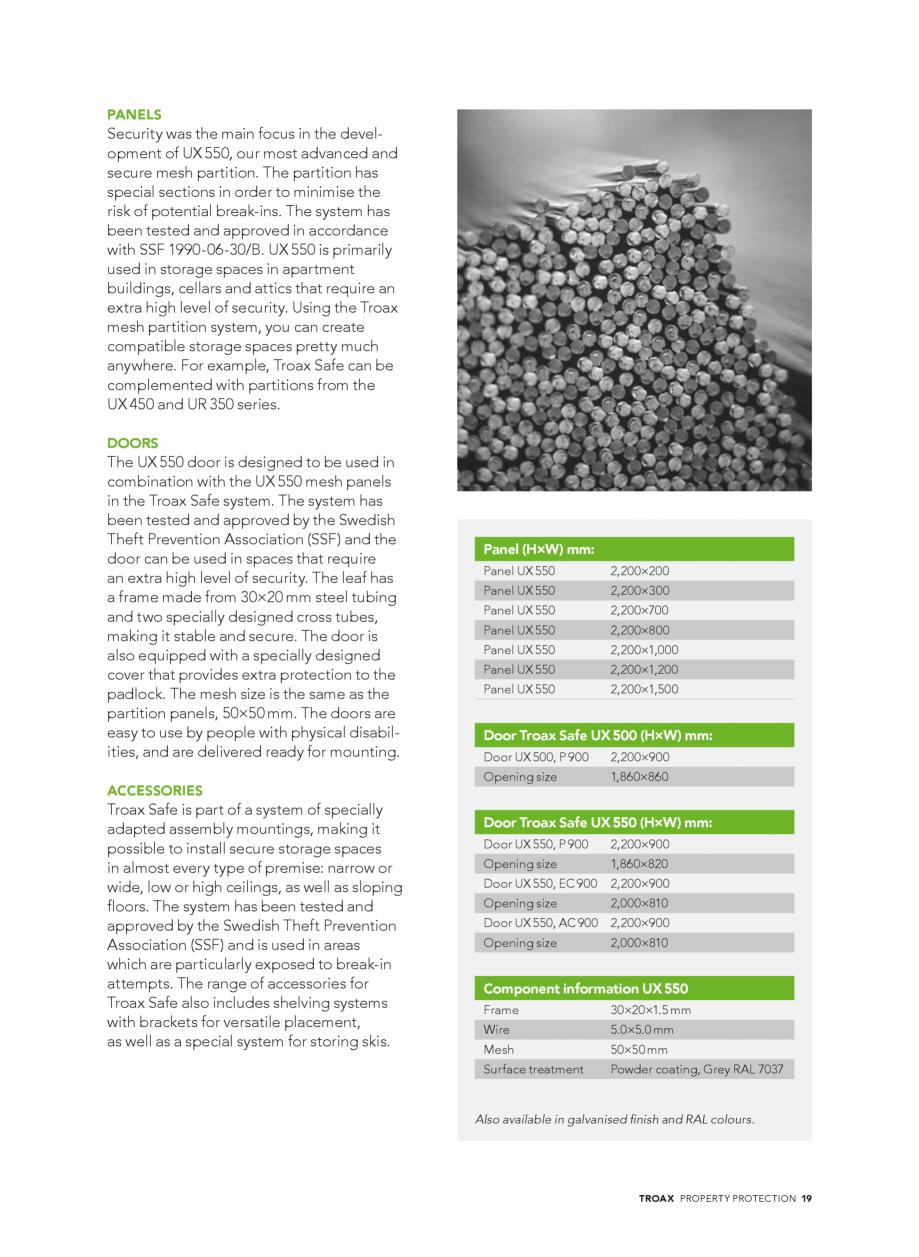 Pagina 19 - Catalog - Sisteme pentru configurarea spatiilor de depozitare  TROAX TROAX Clasic, TROAX...