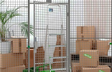 Panouri si garduri pentru spatii sau boxe de depozitare  Sistemele TROAX pentru configurarea spatiilor de depozitare asigura o buna aerisire si iluminare, excelenta protectie la foc, vandalizare si efractie.
