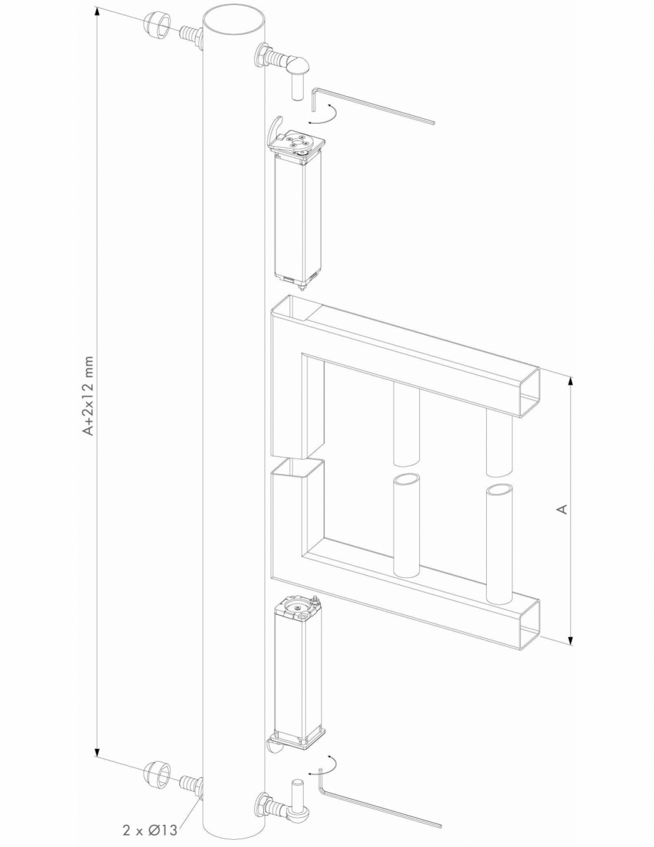 Pagina 2 - Specificatii tehnice pentru setulul de balamale cu amortizor LOCINOX SWING40 Fisa tehnica...