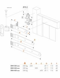 Balama pentru porti din lemn - Fisa tehnica