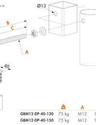 Balama cu capace de aluminiu pentru porti de gradina - Fisa tehnica