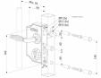 Incuietoare cu ornament pentru porti  - Fisa tehnica LOCINOX - LAKQ H2