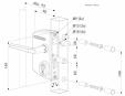 Incuietoare porti metalice industriale - Fisa tehnica  LOCINOX - LAKQ U2