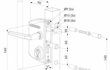 Incuietoare porti metalice industriale - Fisa tehnica LOCINOX