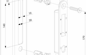 Opritor pentru incuietoare H-Compact - Fisa tehnica LOCINOX