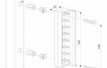 Opritor din poliamida pentru porti de gradina - Fisa tehnica LOCINOX