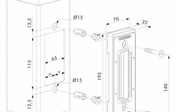 Opritor pentru porti glisante cu Quick-Fix - Fisa tehnica LOCINOX