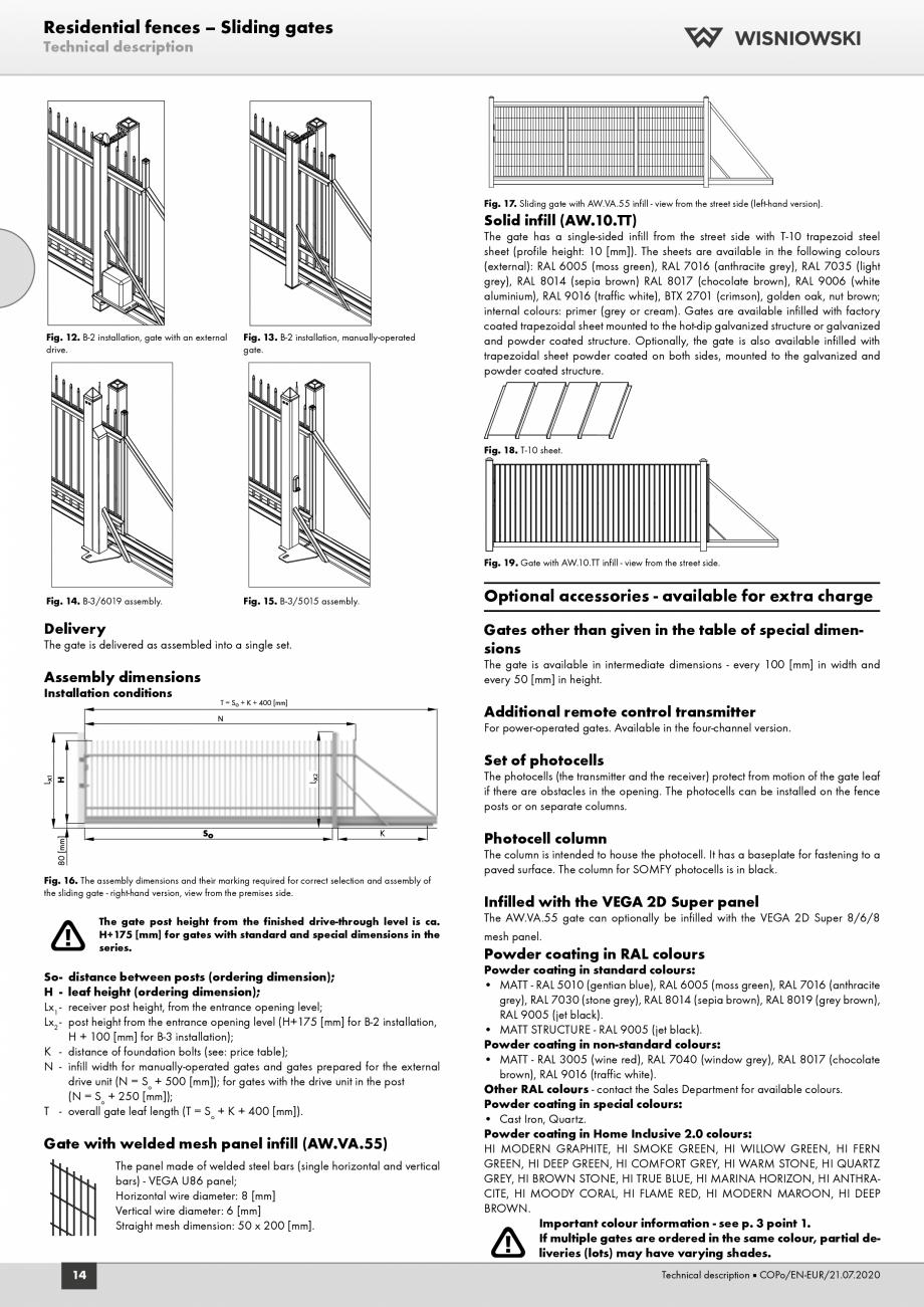 Pagina 2 - Porti rezidentiale Wisniowski Fisa tehnica Engleza gate post is attached by an angle...