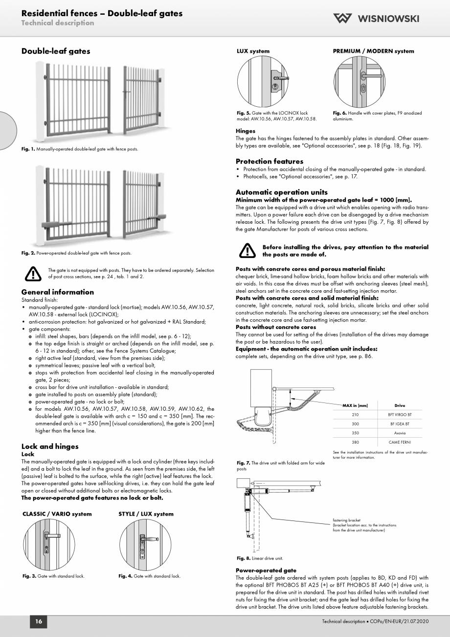 Pagina 4 - Porti rezidentiale Wisniowski Fisa tehnica Engleza ion features  • The overload switch...