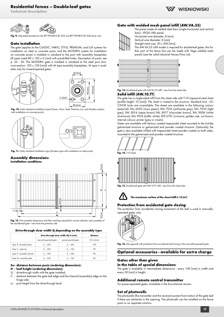 Pagina 5 - Porti rezidentiale Wisniowski Fisa tehnica Engleza ), RAL 9016 (traffic white), BTX 2701 ...
