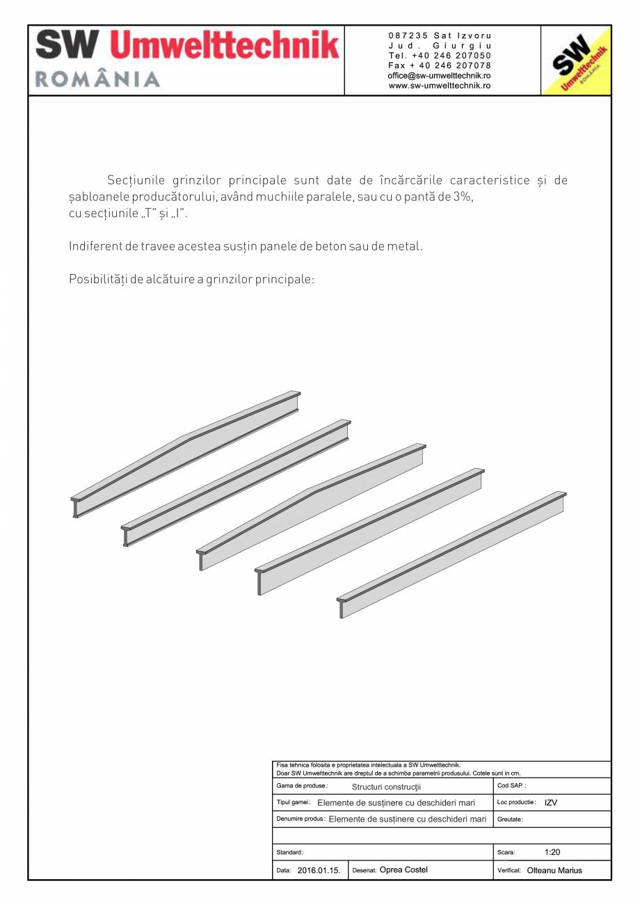 Pagina 1 - CAD-PDF Elemente de susținere cu deschideri mari SW UMWELTTECHNIK Detaliu de produs...