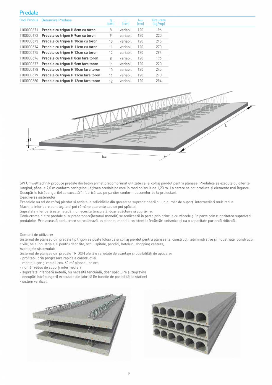 Pagina 7 - Structuri constructii SW UMWELTTECHNIK Gulere, Stalpi, Grinzi principale, Grinzi...