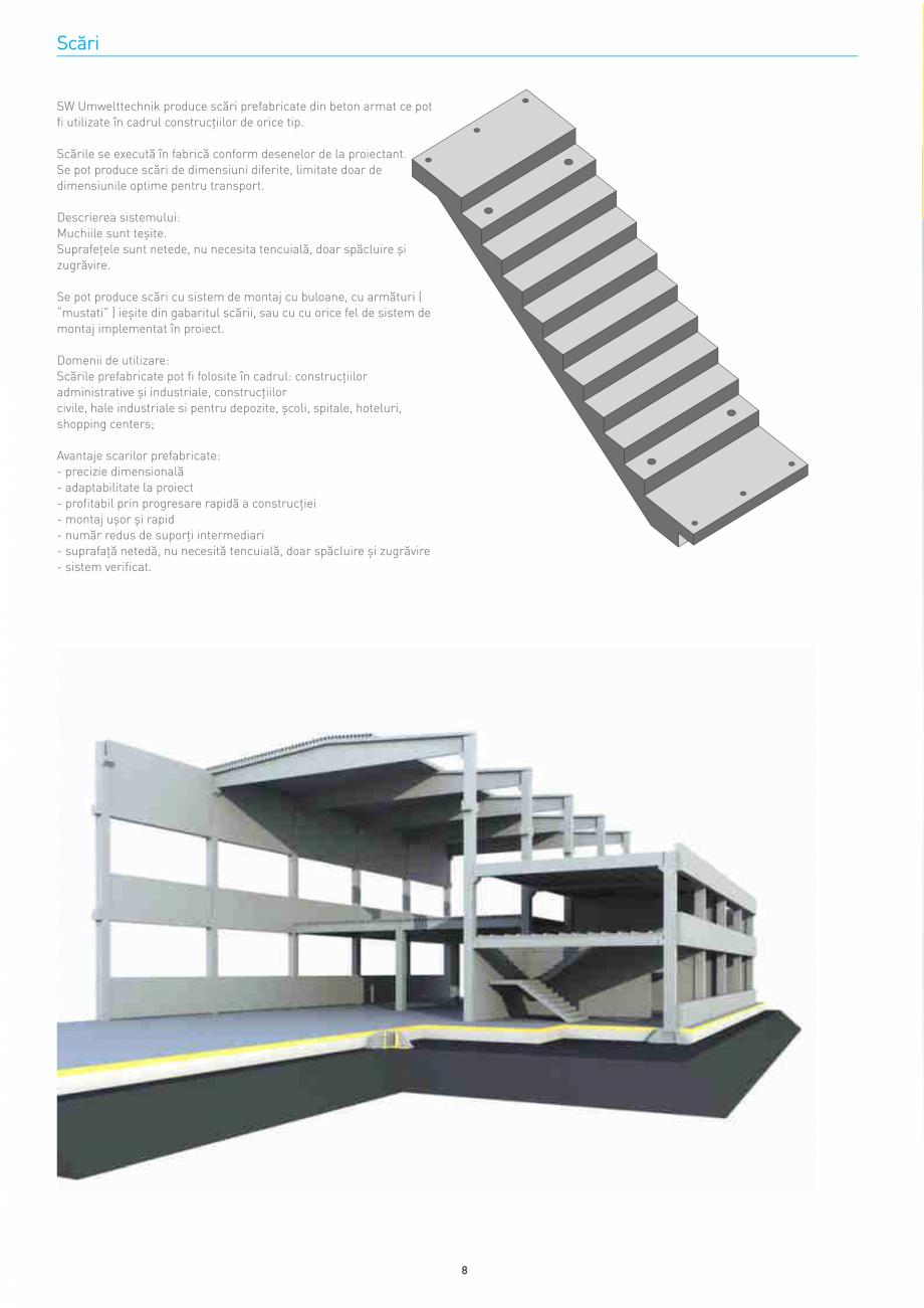 Pagina 8 - Structuri constructii SW UMWELTTECHNIK Gulere, Stalpi, Grinzi principale, Grinzi...