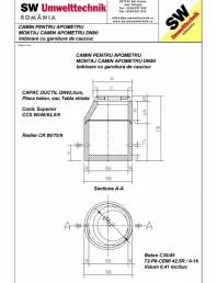 Montaj camin apometru DN80 - Imbinare cu garnitura de cauciuc