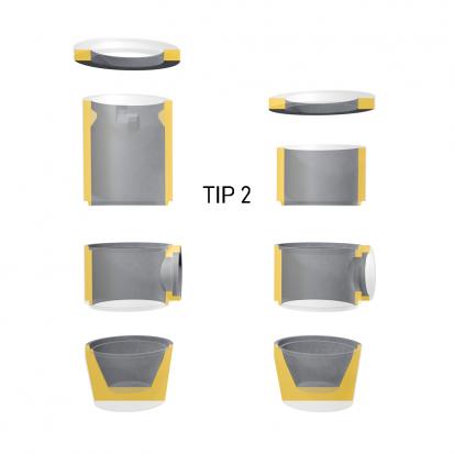Detalii guri de scurgere - Tip 2 GS Guri de scurgere