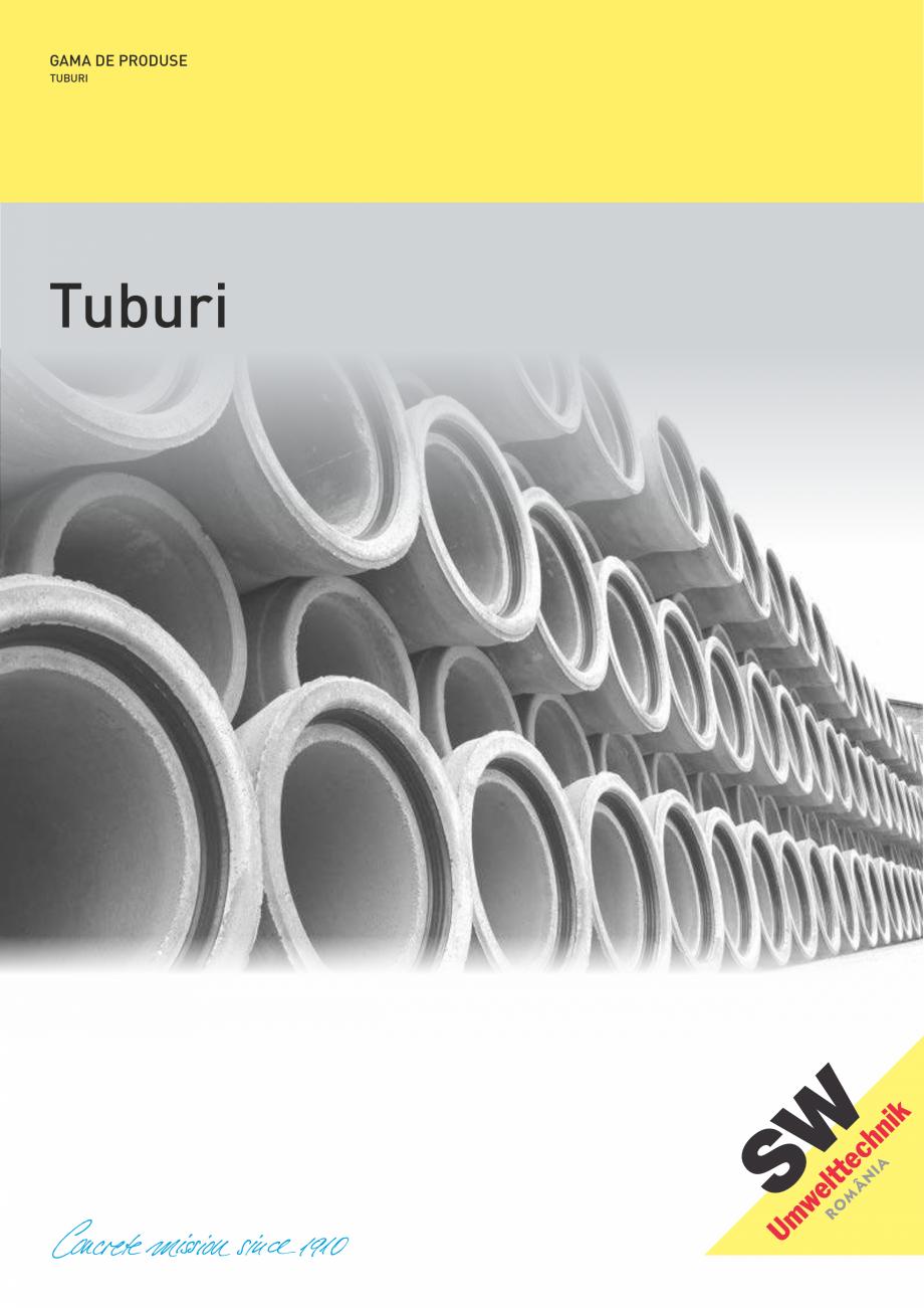 Pagina 1 - Tuburi SW UMWELTTECHNIK Catalog, brosura Romana GAMA DE PRODUSE TUBURI  Tuburi  TUBURI /...