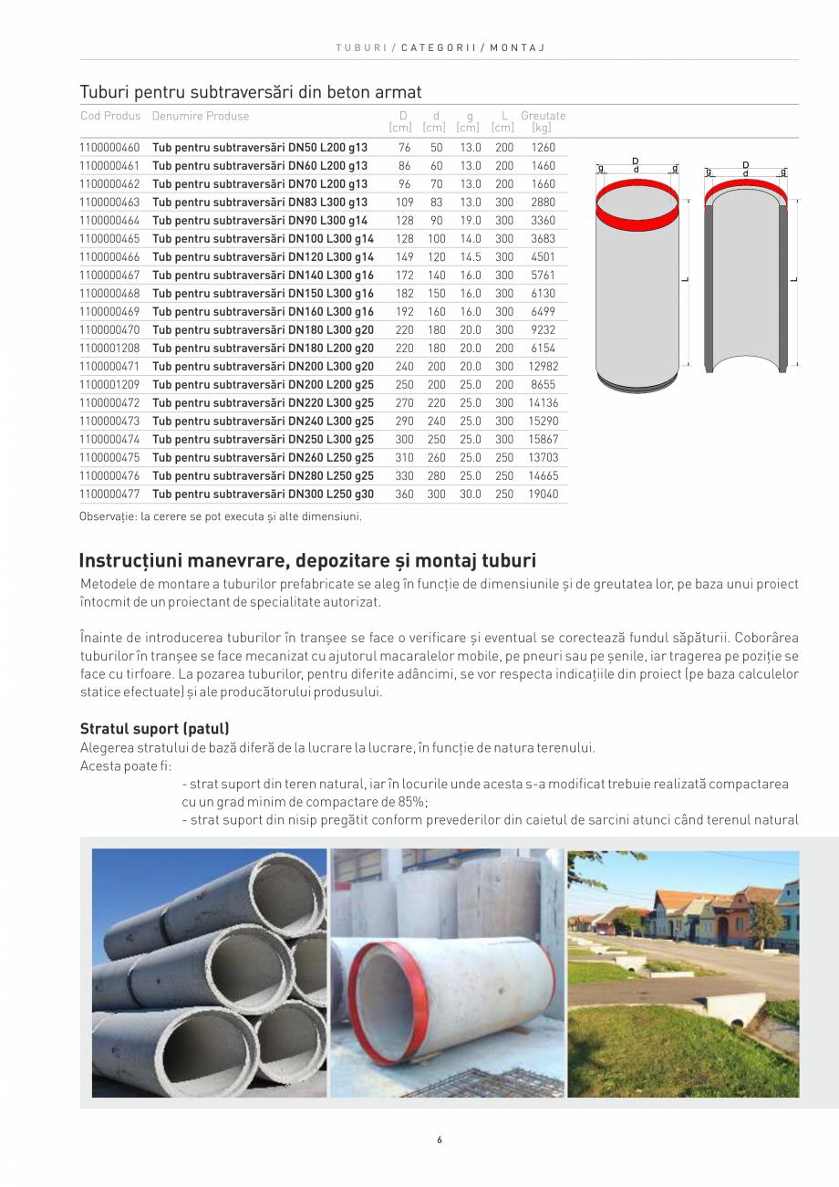 Pagina 6 - Tuburi SW UMWELTTECHNIK Catalog, brosura Romana ilajului de compactare, astfel încât...