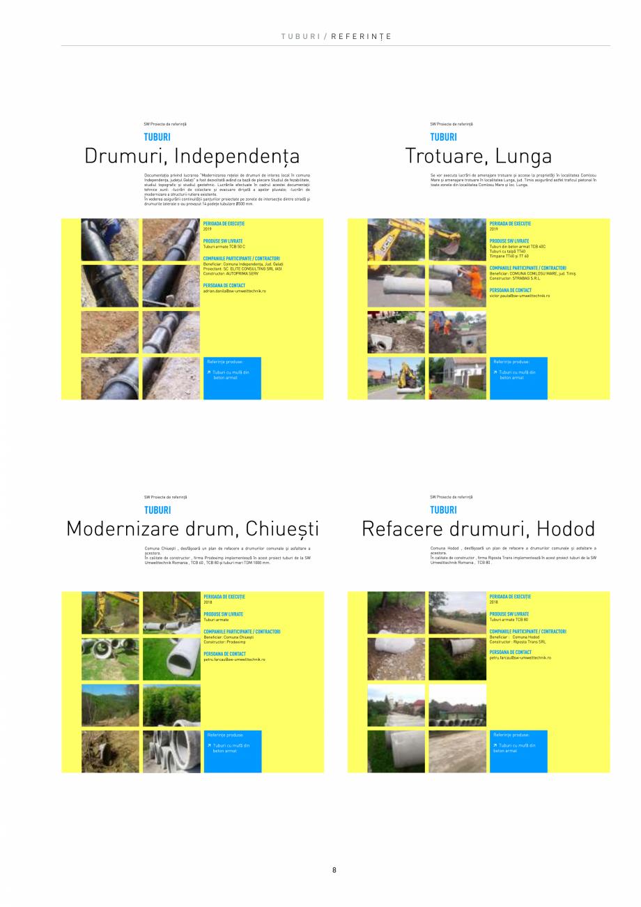 Pagina 8 - Tuburi SW UMWELTTECHNIK Catalog, brosura Romana  de clătire de până la 300 Bar; pot...