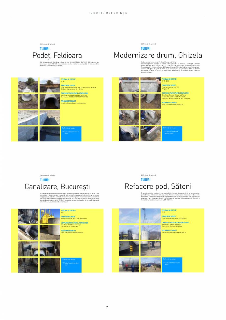 Pagina 9 - Tuburi SW UMWELTTECHNIK Catalog, brosura Romana te de realizare a canalizărilor (tuburi,...