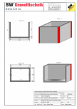 Bazin rectangular BR Di 300/200/250/20 SW UMWELTTECHNIK -