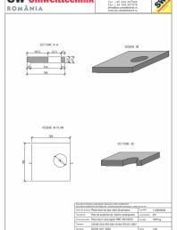 Placa bazin rectangular PBR 180/180/25