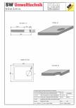 Placa bazin rectangular PBR 230/180/25 SW UMWELTTECHNIK -