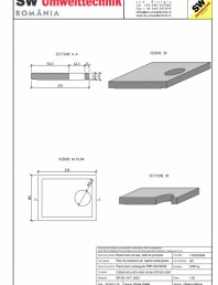 Placa bazin rectangular PBR 230/180/25