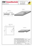 Placa bazin rectangular PBR 230/230/25 SW UMWELTTECHNIK -