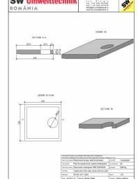 Placa bazin rectangular PBR 230/230/25