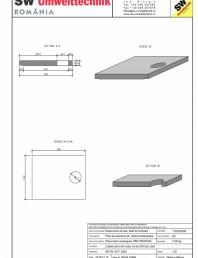 Placa bazin rectangular PBR 290/240/25