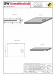 Placa bazin rectangular PBR 340/240/25 SW UMWELTTECHNIK -