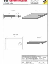 Placa bazin rectangular PBR 340/240/25