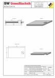 Placa bazin rectangular PBR 390/240/25 SW UMWELTTECHNIK -