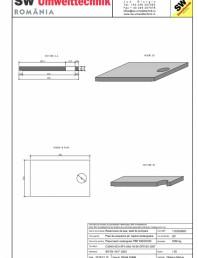 Placa bazin rectangular PBR 390/240/25