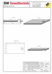 Placa bazin rectangular PBR 440/240/25 SW UMWELTTECHNIK -