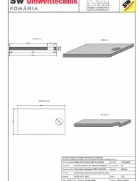 Placa bazin rectangular PBR 440/240/25