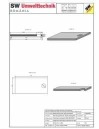 Placa bazin rectangular PBR 490/240/25