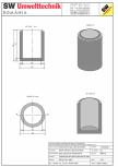 Bazin cilindric BC DN100/150/15 SW UMWELTTECHNIK -