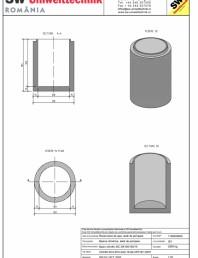 Bazin cilindric BC DN100/150/15