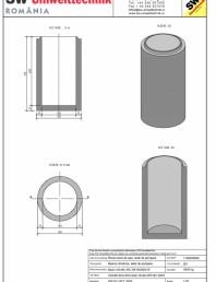 Bazin cilindric BC DN100/200/15