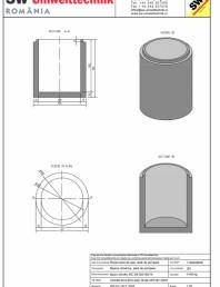 Bazin cilindric BC DN120/150/15
