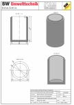 Bazin cilindric BC DN120/200/15 SW UMWELTTECHNIK -