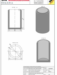 Bazin cilindric BC DN120/200/15
