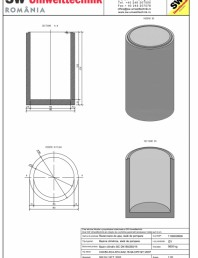 Bazin cilindric BC DN150/250/15