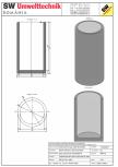 Bazin cilindric BC DN150/300/15 SW UMWELTTECHNIK -